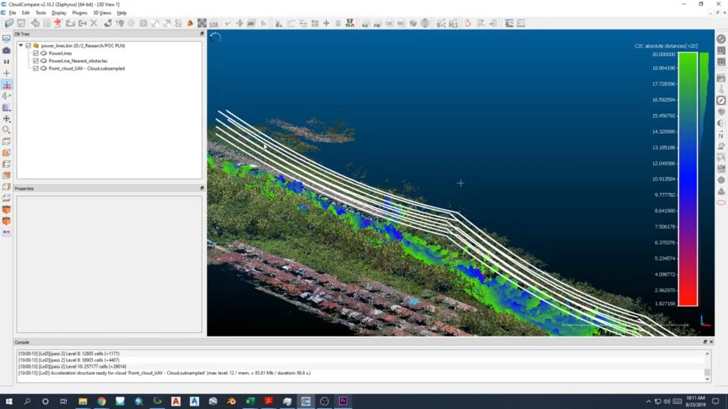 Hasil gambar monitor tranmisi jalur listrik PLN menggunakan drone