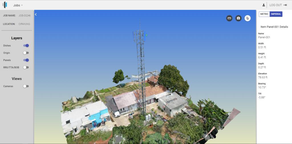 Hasil model 3D menggunkan drone untuk inspeksi Terra Drone Indonesia
