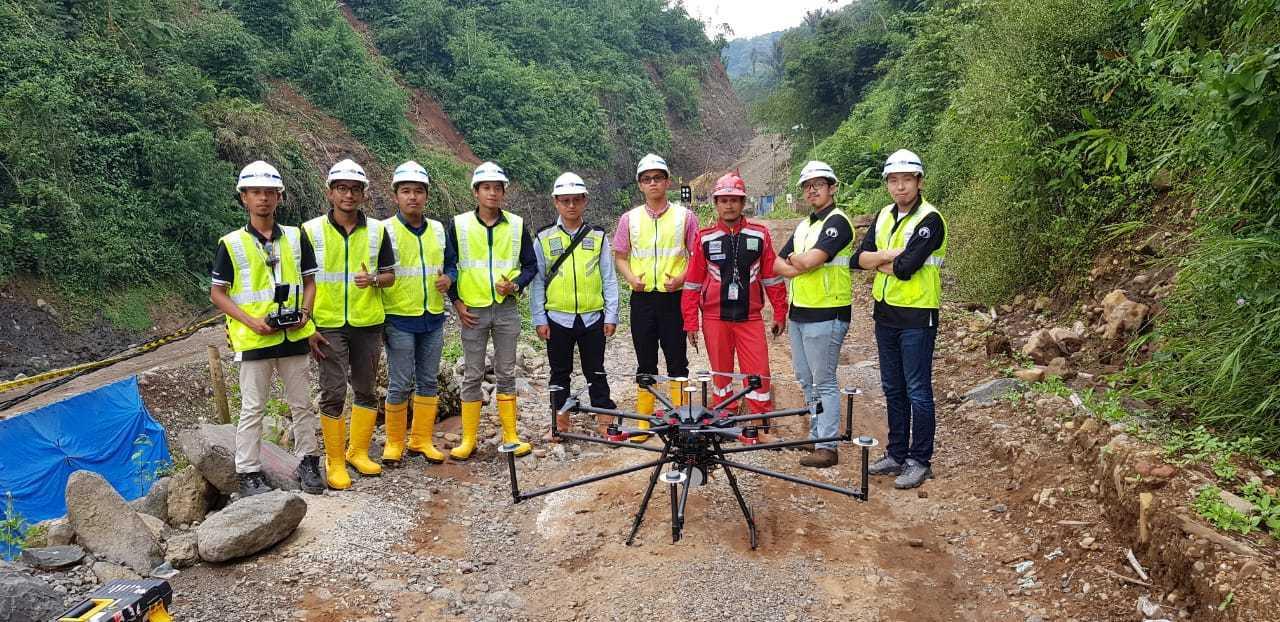 Drone konstruksi Terra Drone Indonesia