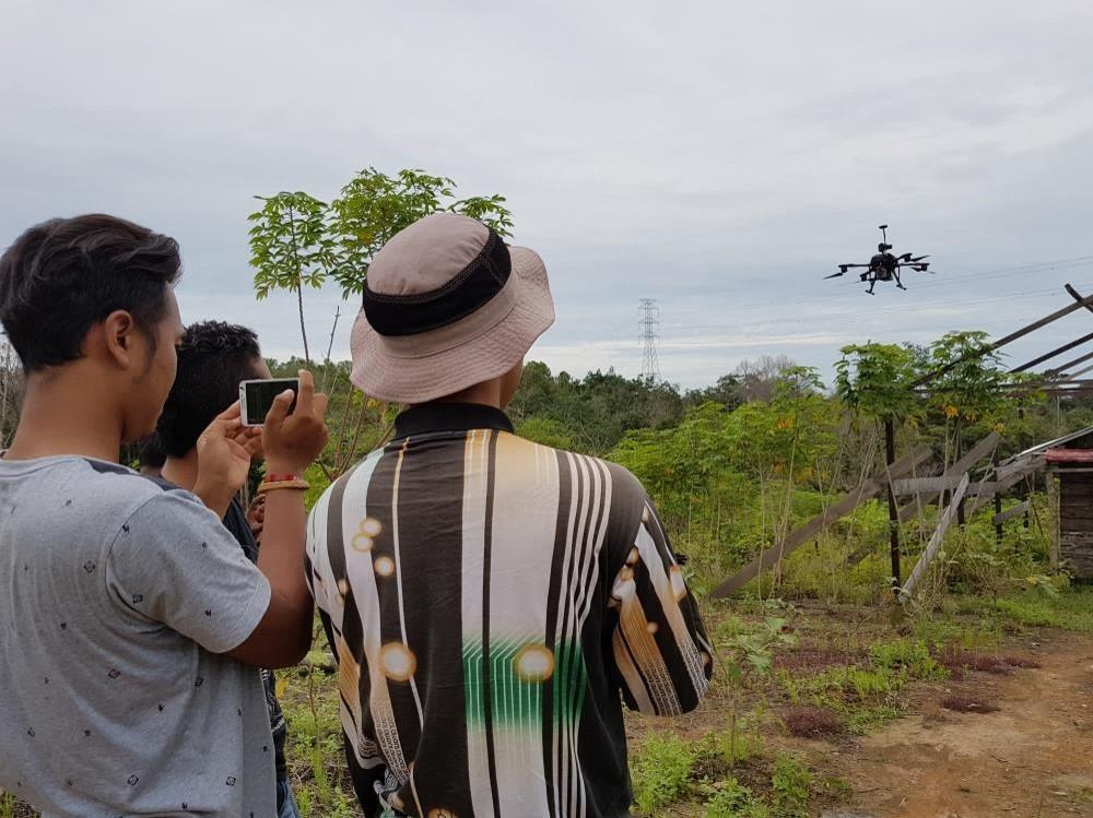 Terra Drone Indonesia Drone inspeksi SUTT PLN