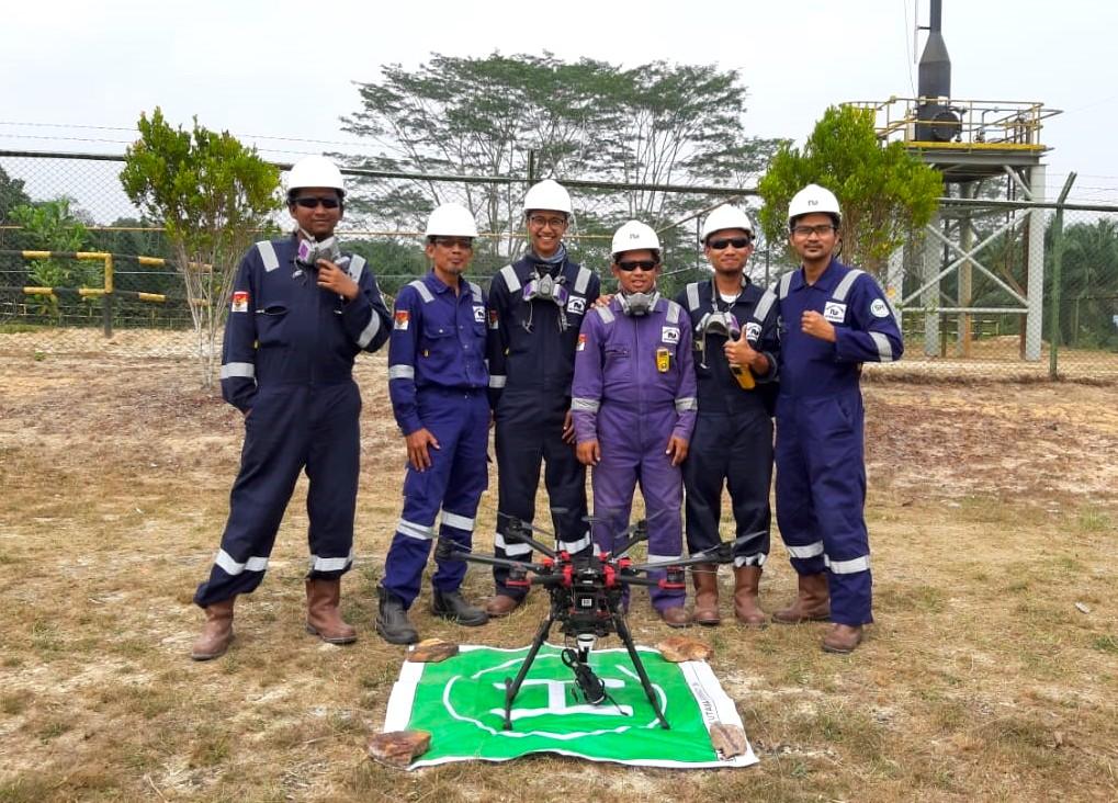Drone inspeksi_Terra Drone Indonesia_Chevron