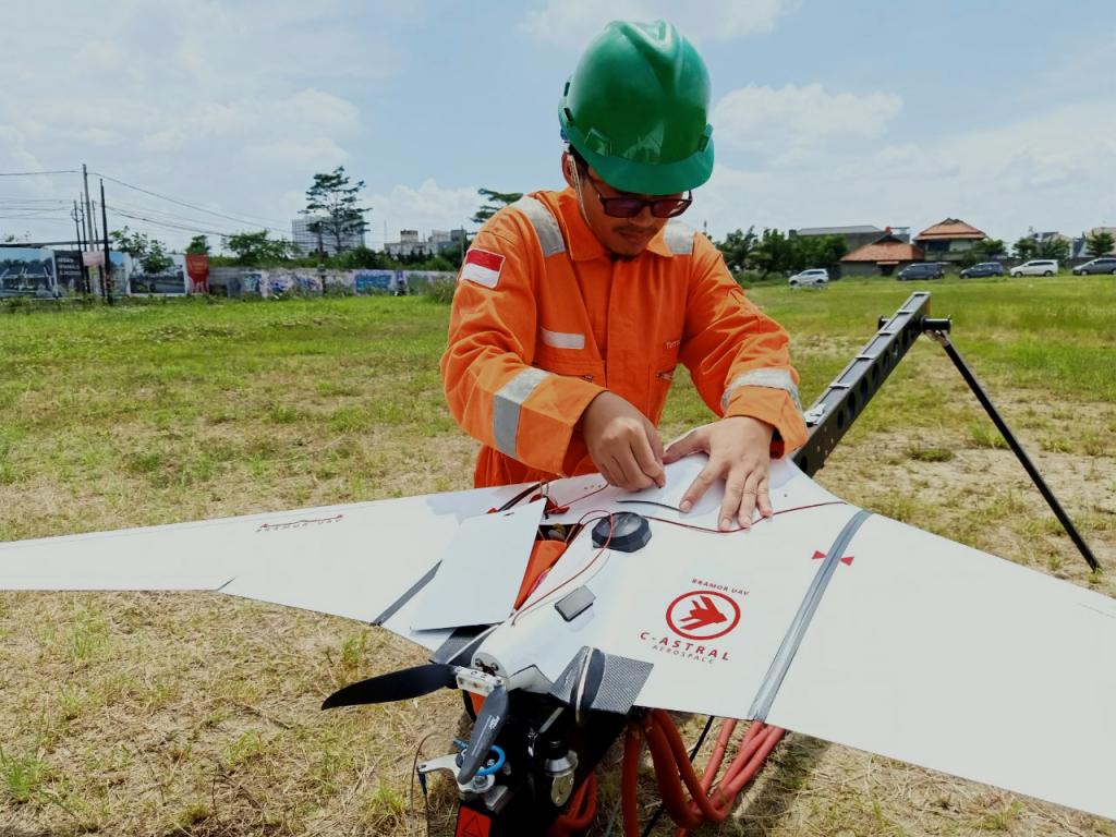 Drone Indonesia - Terra Drone Indoensia - Drone untuk proyek PLN