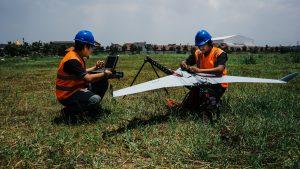 Drone terbang malam - Terra Drone Indonesia