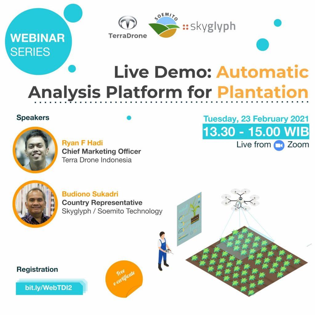 Webinar Terra Drone Indonesia: Live Demo Automatic Analysis Platform for Plantation