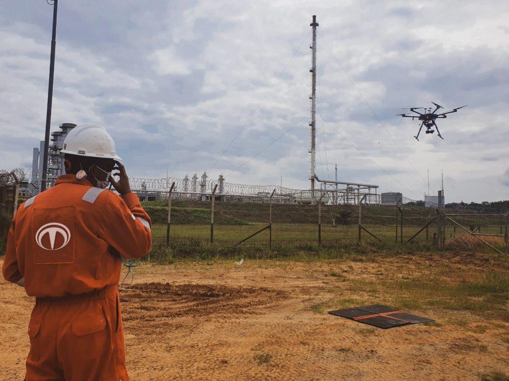 Drone untuk inspeksi migas