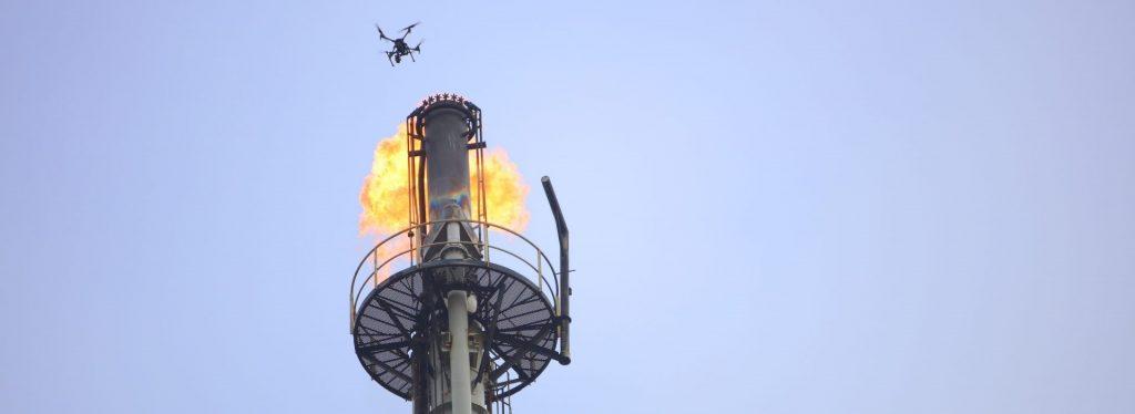 Drone inspeksi flare stack