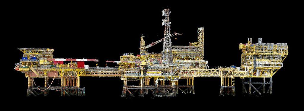 3D Model Platform produksi minyak dan gas